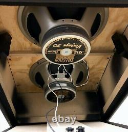 Vintage Sovtek 1980's 2x12 Vertical Slant Speaker Cabinet Mig Celestions