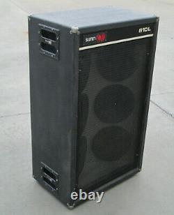 Vintage Sunn 610l 6x10 Guitar Cab 6 X 10 Haut-parleurs