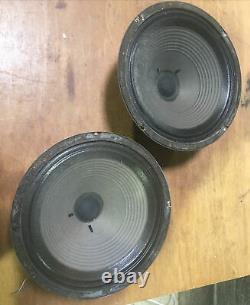 Vintage T1692 G12l Celestion Greenback Paire De 12 Haut-parleurs 1976 1777 Marshall